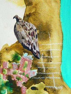 Vulture Mixed Media - Vulture by Kristen  Martin