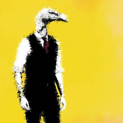 Condor Digital Art - Vulture Man by Matthew Daigle
