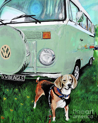 Painting - Vw Beagle by Michelle Deyna-Hayward