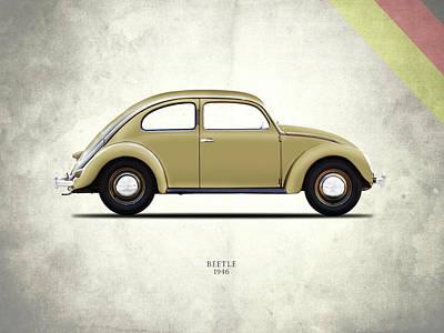 Vw Beetle Photograph - Vw Beetle 1946 by Mark Rogan