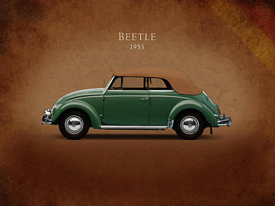 Vw Beetle Photograph - Vw Beetle 1953 by Mark Rogan