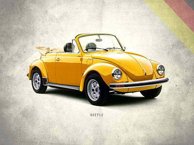 Vw Beetle 1972 Print by Mark Rogan