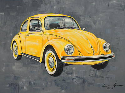 Painting - Vw Beetle Bug Volkswagen by Luke Karcz