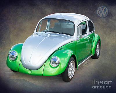 Custom Photograph - Vw Beetle By Darrell Hutto by J Darrell Hutto