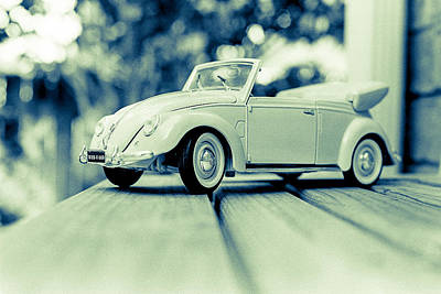 Vw Beetle Convertible Print by Jon Woodhams