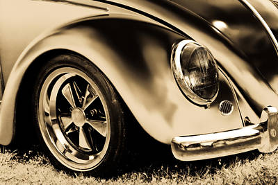 Photograph - Vw Beetle Gold by Athena Mckinzie