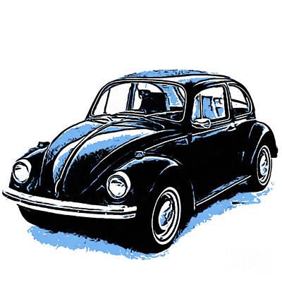 Vw Beetle Graphic Art Print by Edward Fielding