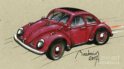 919 Painting - Red Bug by Alain Baudouin
