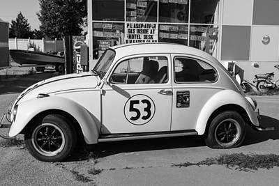 Photograph - Vw Bug 53 On Route 66 by John McGraw