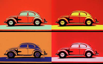 Painting - Vw Bug Pop Art by Dan Sproul