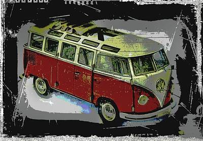 Photograph - Vw Bus 1962 by Manfred Lutzius