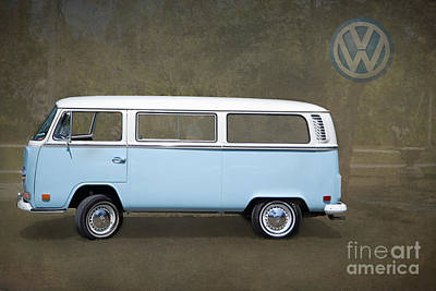 Wheels Photograph - Vw Bus By Darrell Hutto by J Darrell Hutto