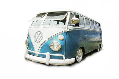 Photograph - Cutout Volkswagen Bus by Athena Mckinzie