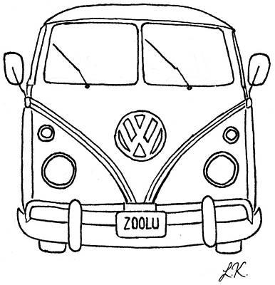 vw bus drawings fine art america Old VW Minivan vw bus drawing vw bus by lauren kirby