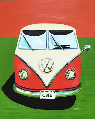 Painting - Vw-bus-obie by Dean Glorso