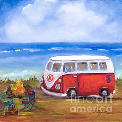 Painting - Vw Bus by Pati Pelz