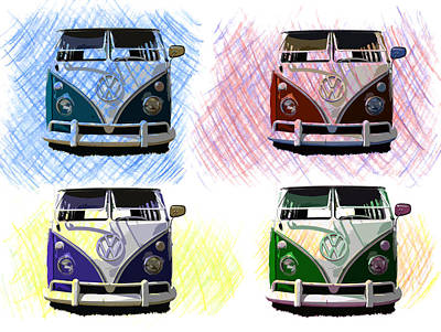 Photograph - Vw Bus Poster Art by Steve McKinzie