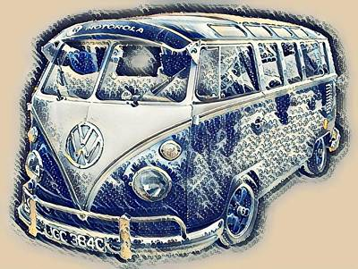 Photograph - Vw Camper Van Waves by John Colley