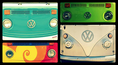 Vw Collage Art Print by Robin Dickinson