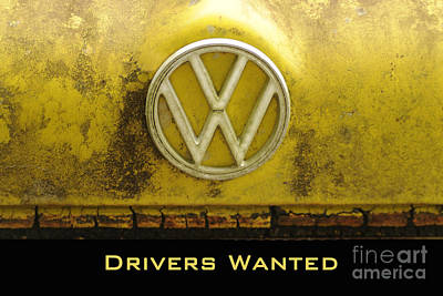 Photograph - Vw Drivers Wanted by Nancy Greenland