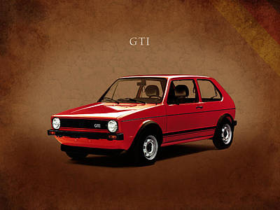 Golf Art Photograph - Vw Golf Gti 1976 by Mark Rogan
