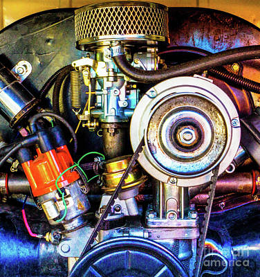 Photograph - Vw Motor by Tina Hailey