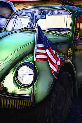 Photograph - Vw Patriotic by Alice Gipson