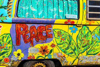 Hippy Photograph - Vw Peace Van by Garry Gay