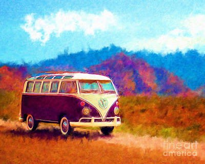 Vw Van Classic Art Print by Marilyn Sholin