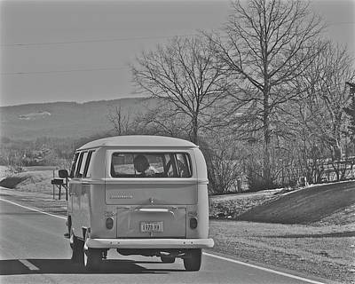 Photograph - Old School Hippy Van by Tracy Rice Frame Of Mind