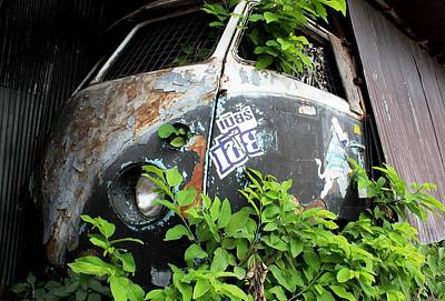 Photograph - Vw Van Wall by Nola Lee Kelsey