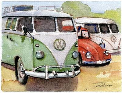 Painting - VW3 by Ron Wilson