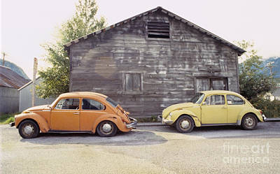 Vw's In Skagway Alaska Art Print