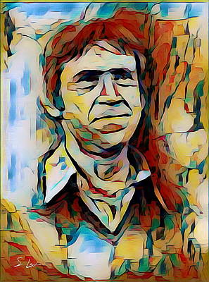 Digital Art - Vysotsky Vladimir Singer-songwriter by S Art