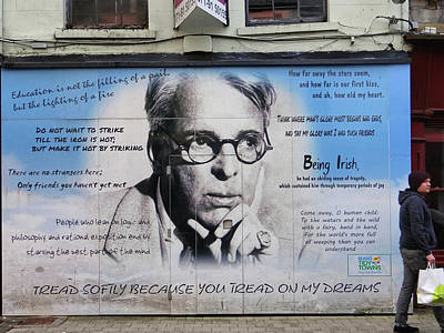 Photograph - W B Yeats - Shop Front - Sligo by John Carver