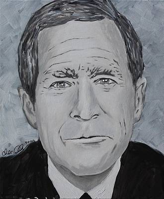 George W. Bush Painting - W by Chad Airhart