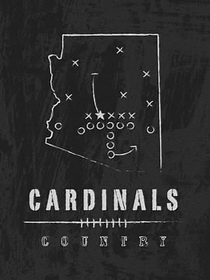 Arizona Cardinals Art - Nfl Football Wall Print Art Print by Damon Gray