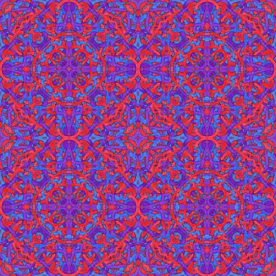 W E D - Multi Pattern Art Print