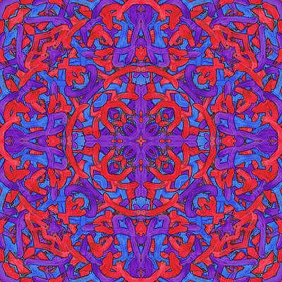 Painting - W E D - Pattern by REVAD David Riley