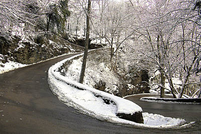 Chattanooga Tennessee Photograph - W Road In Winter by Tom and Pat Cory