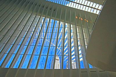 Photograph - W T C Transportation Hub Oculus Interior  # 3 by Allen Beatty