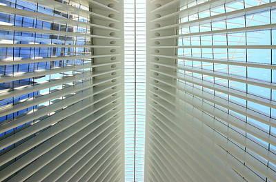 Photograph - W T C Transportation Hub Oculus Interior  # 4 by Allen Beatty