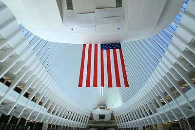 Photograph - W T C Transportation Hub Oculus Interior  # 6 by Allen Beatty
