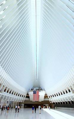 Photograph - W T C Transportation Hub Oculus Interior # 7 by Allen Beatty
