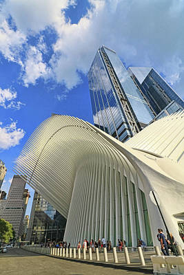 Photograph - W T C Transportation Hub Oculus Exterior # 18 by Allen Beatty