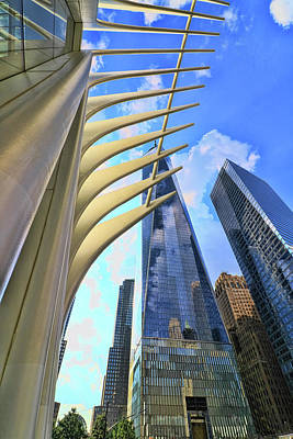 Photograph - W T C Transportation Hub Oculus Exterior # 20 by Allen Beatty