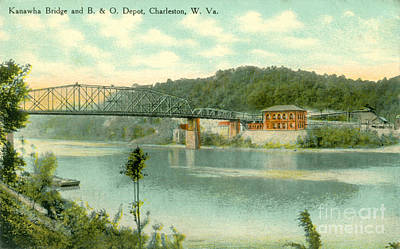 Virginia Postcards Photograph - Charleston West Virginia by Dale Powell