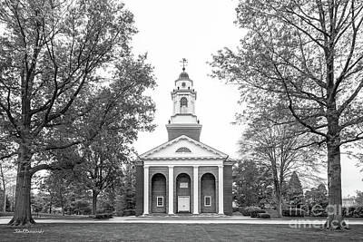 Small Towns Photograph - Wabash College Chapel by University Icons