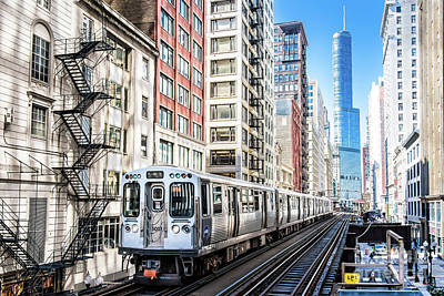 Photograph - The Wabash L Train by David Levin