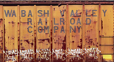 Photograph - Wabash Valley Railroad Company Box Car 10 Color by Joseph C Hinson Photography